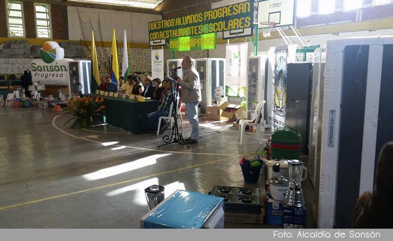 Photo of En Sonsón, se realizó una inversión de 110 millones de pesos para dotar restaurantes escolares del municipio