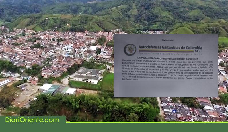 Photo of Panfleto que amenaza con limpieza social atemoriza habitantes de San Carlos