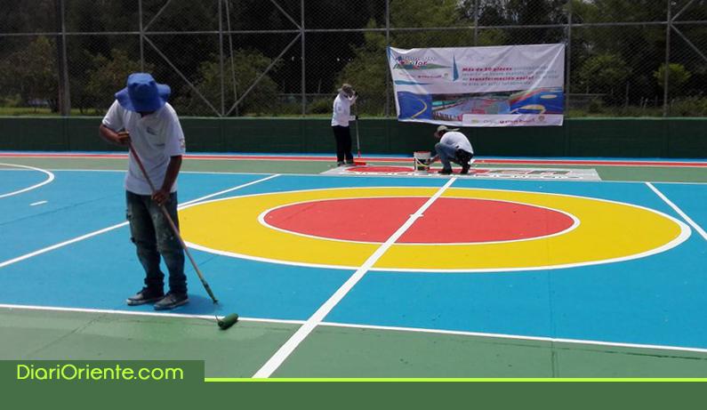 Photo of Rionegro a Color termina con éxito el proceso transformación de 58 placas polideportivas