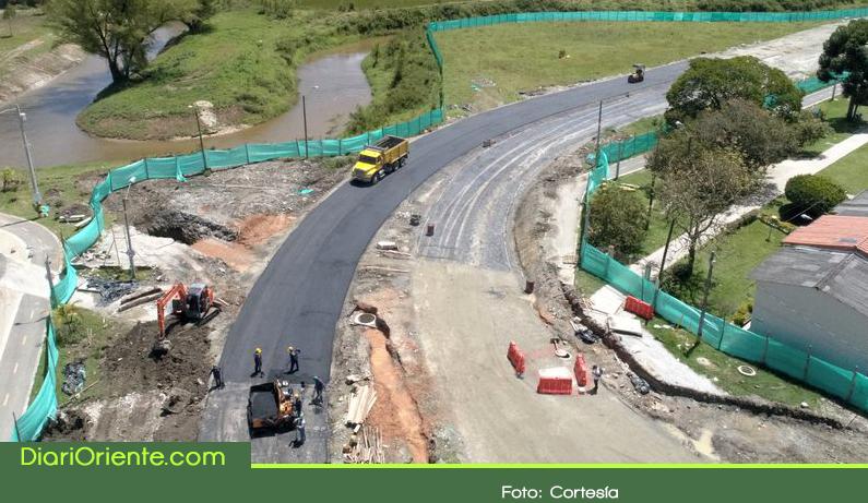 Photo of En un 38% avanzan obras de la vía que comunicará al barrio El Porvenir con Llanogrande