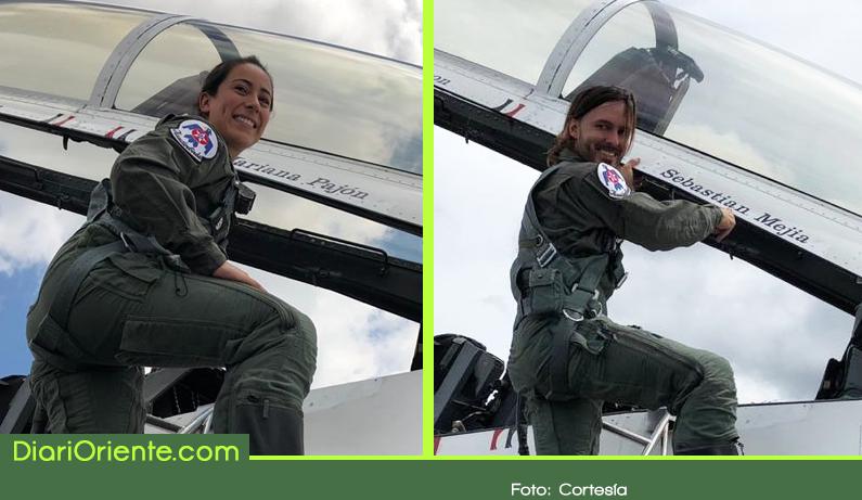 Photo of Dos deportistas colombianos volaron en un F-16 del escuadrón acrobático Thunderbirds