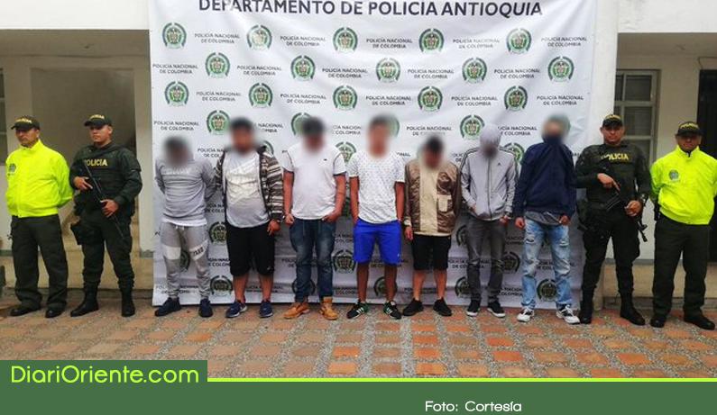 Photo of Capturan 7 integrantes de banda dedicada al hurto de residencias y comerciante en el Oriente Antioqueño