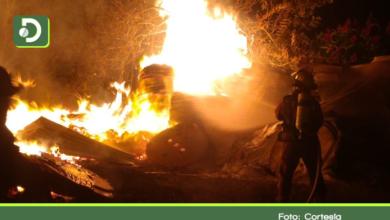 Photo of Incendió consumió taller de estibas en Marinilla.