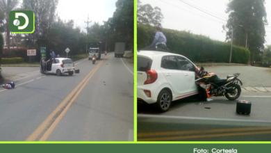 Photo of Dos heridos dejó accidente entre carro particular y una moto en la vía La Ceja – Rionegro