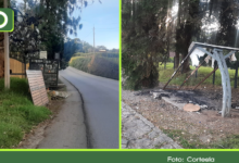 Photo of Desconocidos quemaron un paradero de buses en Rionegro