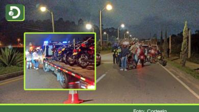 Photo of Rionegro: 15 comparendos y 9 motos inmovilizadas en la vía El Tranvía por piques ilegales