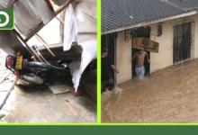 Photo of Fuertes lluvias generaron estragos en Marinilla: calles inundadas y viviendas afectadas