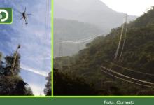 Photo of Con el uso de drones y helicópteros, se construyó nueva línea de energía entre Sonsón, Cocorná y San Luis